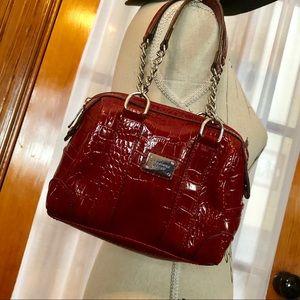 Liz Claiborne Litle Faux Crocodile Leather Bag